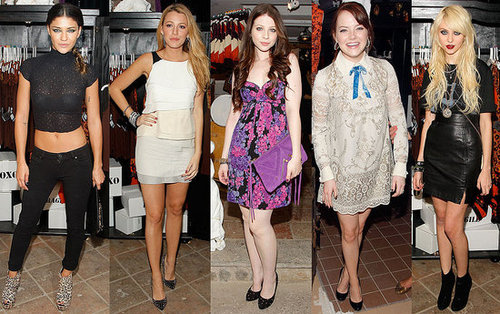 Gossip Girl Stars Gather at Anna Sui For Target Pop-Up Shop in NYC to Party 2009-09-10 15:00:08