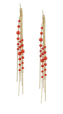 Forever 21 Long Chain Bead Earrings