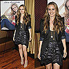 Alicia Silverstone Book Release Party For Her Book in Black Blazer and Crinkled Black Skirt