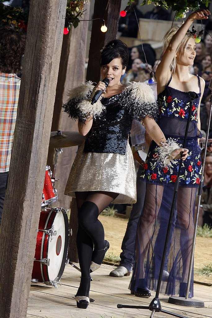Lily Allen Performs in Chanel at Chanel