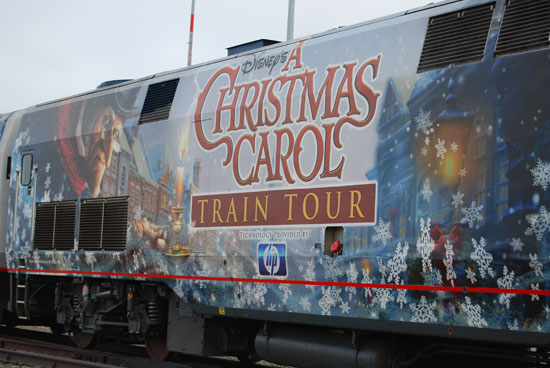 Disney&#039;s A Christmas Carol Train Tour!