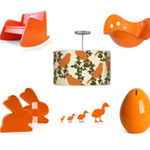 Orange Baby Room Nurseries