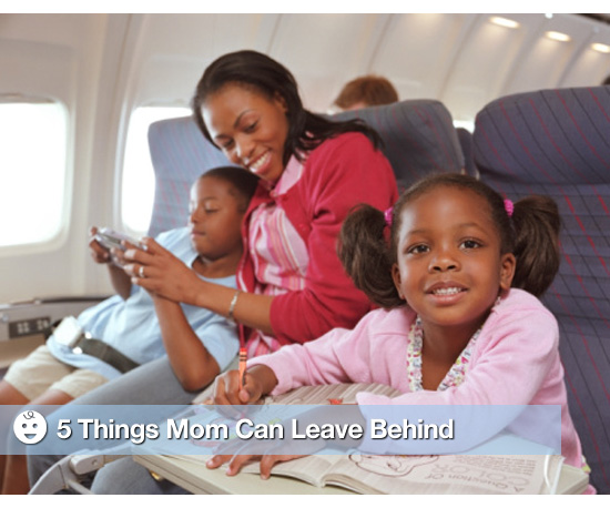 Things Moms Can Leave Behind When Flying