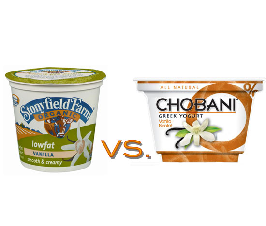 Regular yogurt vs. Greek yogurt