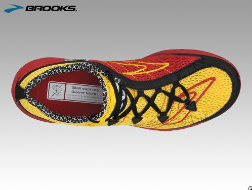 Photos of Brooks' Green Silence Eco Running Shoe