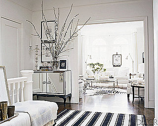 Ask Casa: Elle Decor Black and White Striped Rug