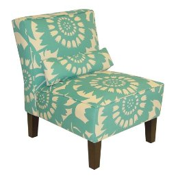If the cheerful blue/green floral pattern on the Gerber Upholstered Chair ($299), it's because it was designed by none other than textile genius Thomas Paul.
