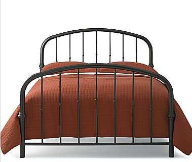 The JCPenney Grayson Bed (on sale for $139 to $239) has the same vintage style as the bed seen in the film.