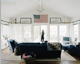 This home used the American flag as the inspiration for its palette, with deep blues dominating.  Source