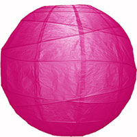 Simple, pretty paper lanterns are one of the easiest and most inexpensive ways to light up the night. This Pink Paper Lantern goes for $3.50, but the price drops if you buy in bulk.