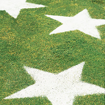 Sunset's lawn stars are pretty darn cool, and they're also made from flour, so they're non-toxic.