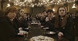 I absolutely adore the floating candlesticks in the Hogwarts dining hall. So much more magical than any chandelier!  Source