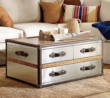 The Brittanic Trunk ($1,199) is a glam update on the classic student trunk.