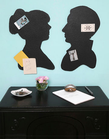 Country Living shows you how to craft these cool bulletin board silhouettes.