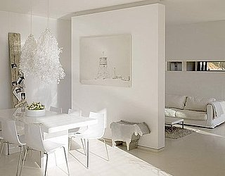 Get the Look: A Bright, White Dining and Living Space