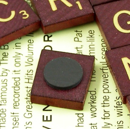 Play Scrabble solitaire on your fridge with this set of Scrabble magnets ($7).