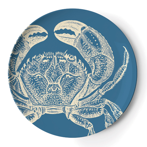 If you live in an earthquake-prone area, and are concerned about your plates crashing to the floor during a rumble, consider putting up some melamine plates instead, like these charming Thomas Paul Sea Life Dinner Plates.