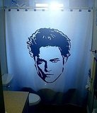 On Team Edward? He'll help you get scrubbed clean with this custom-printed shower curtain ($75).