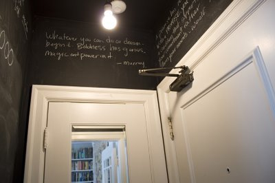 This dressing room in Vancouver features inspirational quotes on the chalkboard walls. Take the full house tour on More Ways to Waste Time.