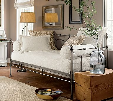 Go for a more classic look with the wrought-iron Savannah Daybed With Trundle ($649).