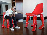 "The Perspective Chair, designed by Pharrell Williams, apparently represents ""the love"" between a man and a woman."