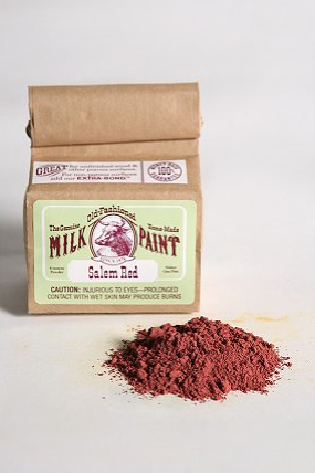 Paint the non-toxic way with Milk Paint (on sale for $9.99, was $18.00) from The Old Fashioned Milk Paint Company of Massachusetts. This product uses real milk powder, lime, and pigment for bold, long-lasting color. Simply transfer the Milk Paint to a bucket and mix with water!