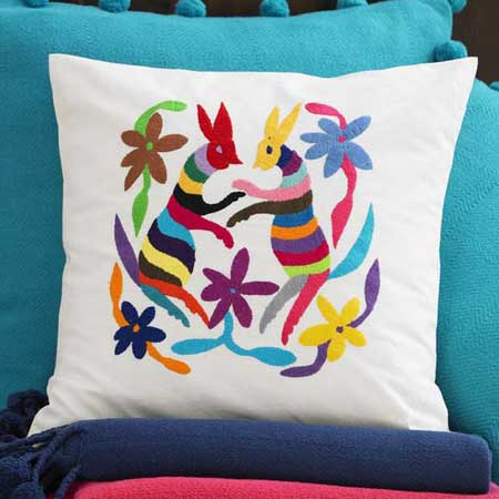 String plays a central role in Viva Terra's Hand-Embroidered Rabbit Pillow ($119), which is hand-embroidered by the women of San Pueblito, Mexico, on organic cotton.