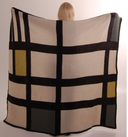 This Norwegian Handmade Felted Afghan ($450) is a dead ringer for a Mondrian, but one that you can curl up in!