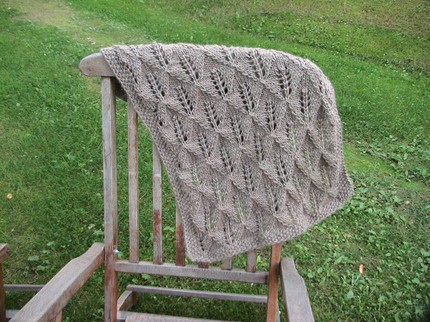 This Leaf Pattern Blanket ($44) is made from soft merino wool, and the seller can make it in different colors or sizes.