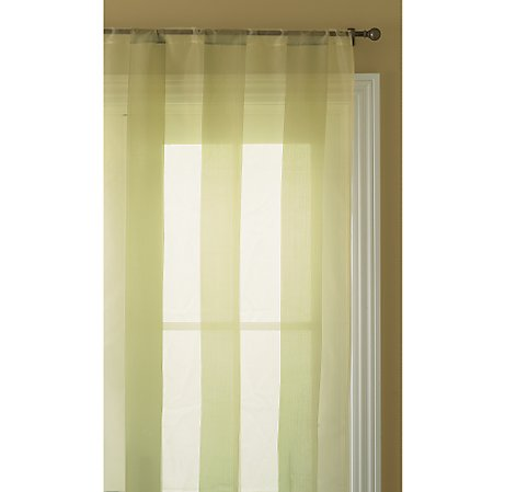 Keep the mood more subdued at home with these celedon Shadow Stripe Silk Curtains ($59 - $89) from Restoration Hardware.