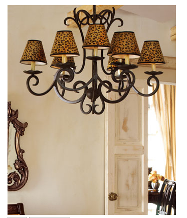 Add animal magnetism to your ceilings with this Leopard Chandelier ($985).