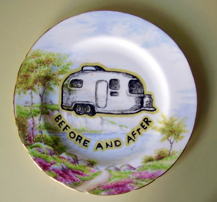 This Handpainted China Plate ($25) is perfect for a quirky, retro-inspired home. Hang it on your wall!