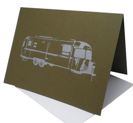 Say hello to fellow wanderers with this blank Airstream card ($3.95).