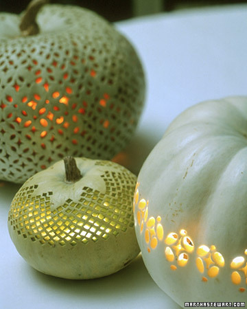 Martha's lace-like pumpkins are beyond gorgeous. Learn how to make them here.