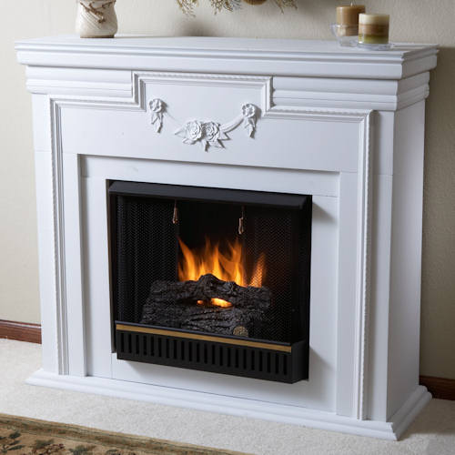 The JelFuel Meridith 1900 ($449) is ideal for the traditionalist, as it looks just like a standard fireplace. But, it also does burn gel fuel, making it a ventless fireplace. And once you put it together in an hour, it is portable, too!