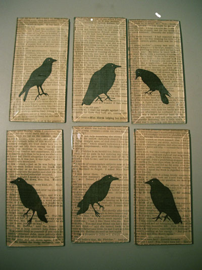 Go for Poe with some raven pages.
