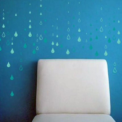 Add some drops to your home, with no soggy puddles, with this Rain Drop Wall Decal ($42).