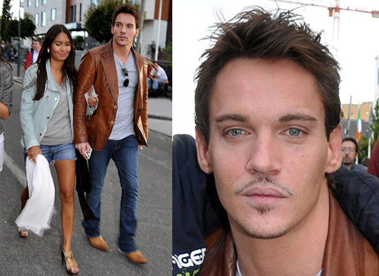 Photos of Jonathan Rhys Meyers With Girlfriend Possible Fiancee Reena Hammer