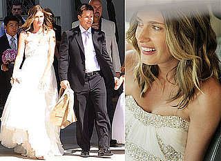Photos Of Mark Wahlberg and Rhea Durham On Their Wedding Day, Rhea In Her Marchesa Wedding Dress