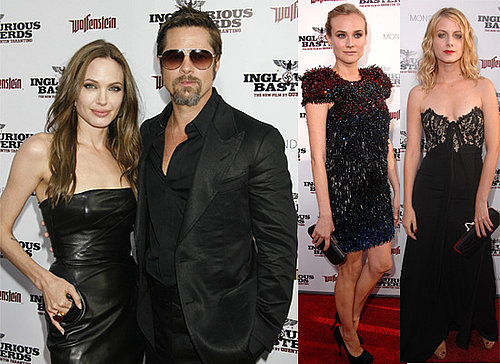 Photos From Inglourious Basterds LA Premiere Including Brad and Angelina, Sidney Poitier, Diane Kruger, Christina Ricci