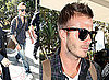 Photos of David Beckham at LAX