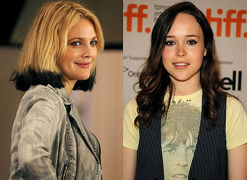 Photos Of Ellen Page and Drew Barrymore at 2009 Toronto Film Festival Press Conference For Whip It