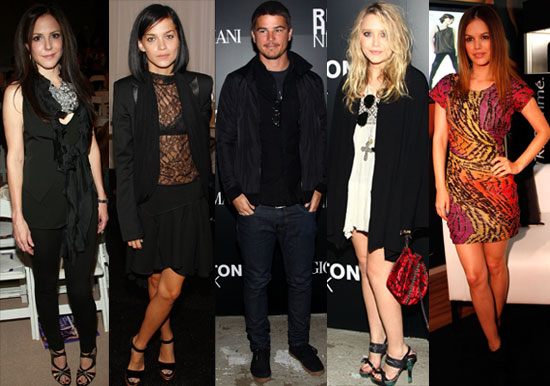 Photos Of Celebrity Guests From New York Fashion Week Including Josh Hartnett, Mary-Kate Olsen, Rachel Bilson