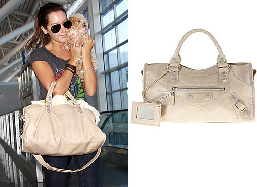 Photos of Ashley Tisdale with Balenciaga Nude Handbag