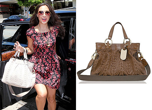 Photos of Mylene Klass with White Handbag Mulberry
