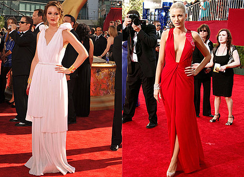 Photos of Leighton Meester and Blake Lively at 2009 Emmy Awards