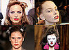 Celebrities in Red Lipstick at PFW
