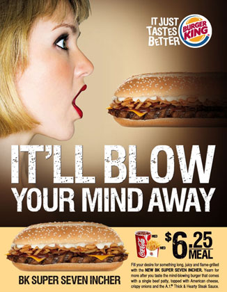 Burger King Will Blow Your Mind Ad in Singapore