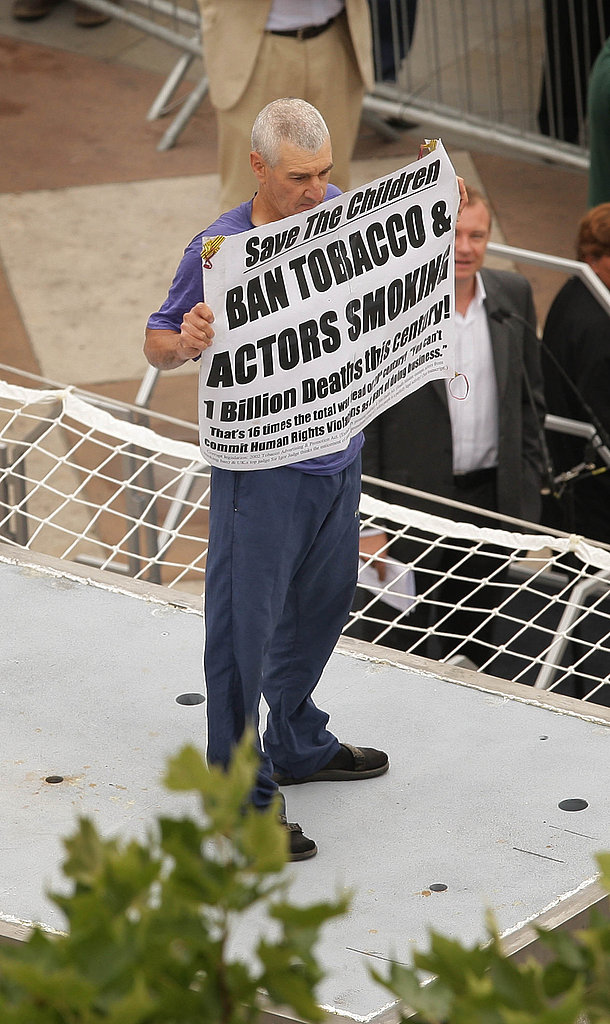Anti-Smoking Protester Stuart Holmes Makes His Case