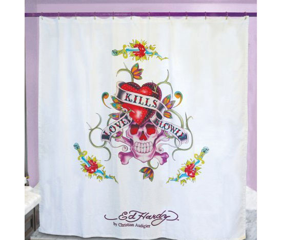 Ed Hardy Shower Curtain